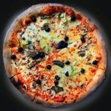 Pizzavegetariër Stock Foto