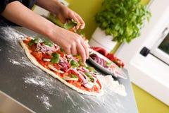 pizzavegetarian Fotografering för Bildbyråer