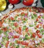 pizzavegetarian Royaltyfria Bilder