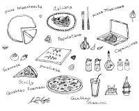 Pizzavektoruppsättning Royaltyfri Foto