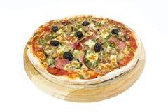 Pizzavitbakgrund Royaltyfri Foto