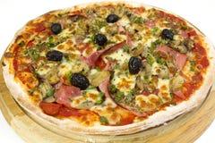 Pizzavitbakgrund Royaltyfria Foton