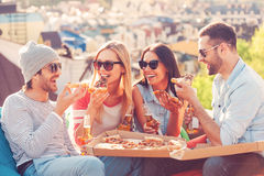 Pizzazeit Lizenzfreies Stockbild