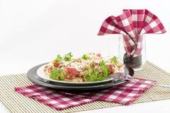 Pizze della focaccina inglese Immagine Stock Libera da Diritti