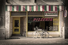 Pizzeria. Image of facade of old pizzeria Royalty Free Stock Image