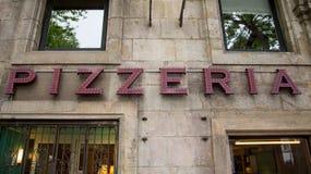 Σημάδι Pizzeria Στοκ φωτογραφία με δικαίωμα ελεύθερης χρήσης