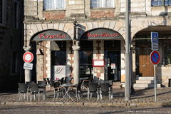 Pizzeria in Arras, France Royalty Free Stock Photo