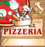 Pizzeria background Royalty Free Stock Image