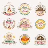 Pizzeria Barwioni emblematy royalty ilustracja
