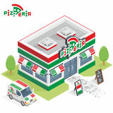 Pizzeria building Royalty Free Stock Photography