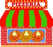 Pizzeria of de Illustratie van de Pizzawinkel Royalty-vrije Stock Foto