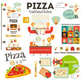 Pizzeria Infographic Stock Image