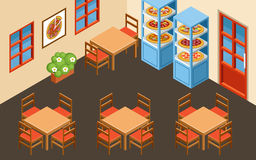 Pizzeria interior Royalty Free Stock Images