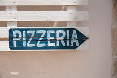 Pizzeria-Italien-Restaurant-Pfeil Lizenzfreies Stockbild