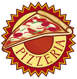 Pizzeria label design Royalty Free Stock Image