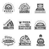Pizzeria Label Set Royalty Free Stock Photo