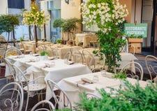 Pizzeria Lucca interna Toscana Italia di Ristorante dell'italiano Fotografia Stock