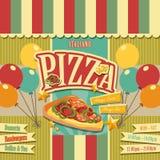 Pizzeria menu royalty ilustracja