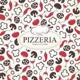 Pizzeria menu design. Menu for restaurant, cafe and bar Royalty Free Stock Images