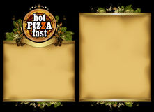 Pizzeria menu design Stock Image