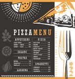 Pizzeria menu graphic design idea Royalty Free Stock Photography