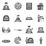 Pizzeria And Pizza Delivery Icons Set Royalty Free Stock Image