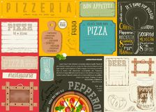 Placemat for Pizzeria Royalty Free Stock Image