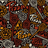 Pizzeria seamless pattern Royalty Free Stock Photo