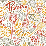 Pizzeria seamless pattern Royalty Free Stock Photos