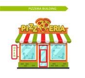 Pizzeria shop building Stock Image