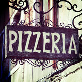 Pizzeria sign Stock Photography