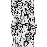 Pizzo astratto con gli elementi delle farfalle e dei fiori Immagini Stock