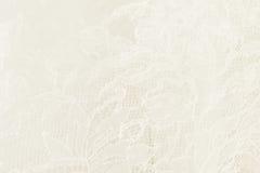 Pizzo bianco di nozze con il modello floreale Immagini Stock Libere da Diritti