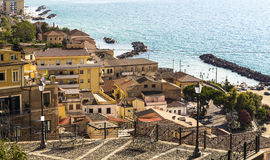 Pizzo Calabro (Calabria, Italy). Pizzo Calabro, is a seaport and comune in the province of Vibo Valentia (Calabria, southern Italy), situated on a steep cliff Stock Photo