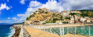 Pizzo Calabro, cidade costeira bonita em Calabria imagens de stock royalty free