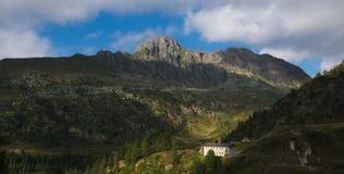 Pizzo Del Becco szczyt na Bergamo Alps Fotografia Royalty Free