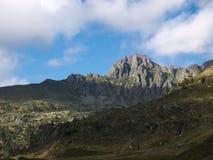 Pizzo Del Becco szczyt na Bergamo Alps Zdjęcia Royalty Free