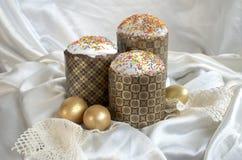 Pizzo del tessuto del dolce dell'uovo di Pasqua Fotografie Stock