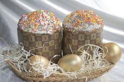 Pizzo del tessuto del dolce dell'uovo di Pasqua Fotografia Stock Libera da Diritti