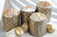 Pizzo del tessuto del dolce dell'uovo di Pasqua Fotografia Stock