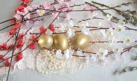 Pizzo del tessuto dell'uovo di Pasqua Fotografia Stock Libera da Diritti