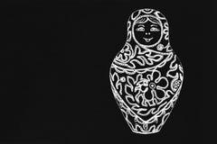 Pizzo dell'ornamento della bambola di Matryoshka Immagine Stock