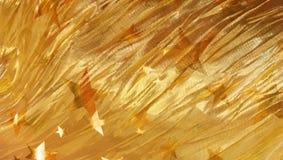 Pizzo dorato della stella con le stelle di galleggiamento Immagine Stock