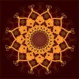 Pizzo rotondo ornamentale, ornamento del cerchio. Fotografia Stock