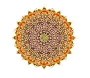 Pizzo rotondo ornamentale triangolare Immagini Stock
