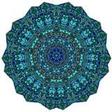 Pizzo rotondo ornamentale triangolare illustrazione vettoriale