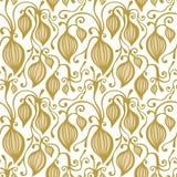 Pizzo senza cuciture floreale dell'oro Reticolo di vettore royalty illustrazione gratis
