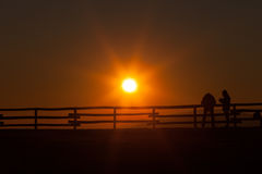 Pizzoc solnedgångfotograf royaltyfri foto