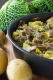 Pizzoccheri,意大利自创意大利面食。 图库摄影