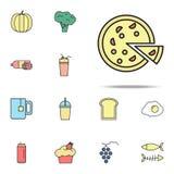 pizzy barwiona ikona Karmowy ikony ogólnoludzki ustawiający dla sieci i wiszącej ozdoby ilustracji